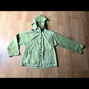 Babette green jacket olive casual hoodie sz:S